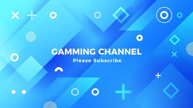 Art de la chaîne youtube de jeu géométrique