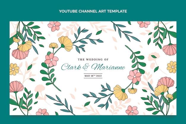 Art de la chaîne youtube de mariage dessiné à la main