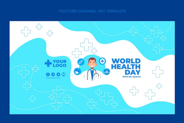 Art de la chaîne youtube médicale plate