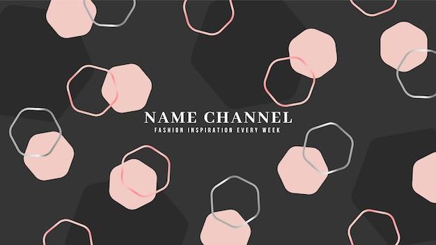 Art de la chaîne youtube mode géométrique