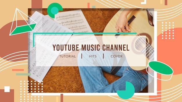 Art De La Chaîne Youtube Musique Géométrique Vecteur gratuit