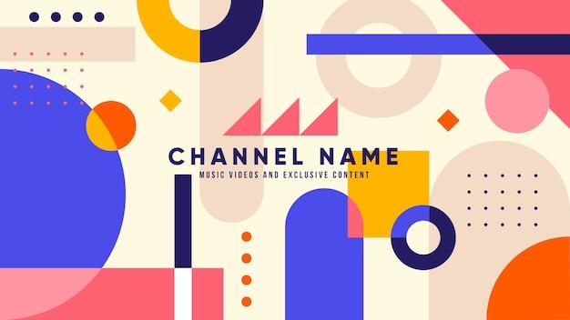 Art de la chaîne youtube musique géométrique