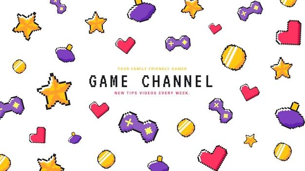 Art de la chaîne youtube pixel gaming