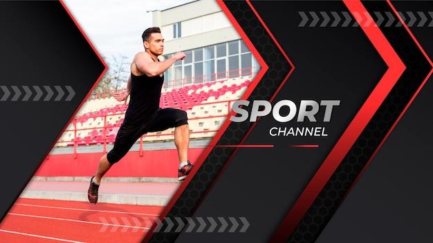 Art De La Chaîne Youtube Sport Dégradé Vecteur gratuit