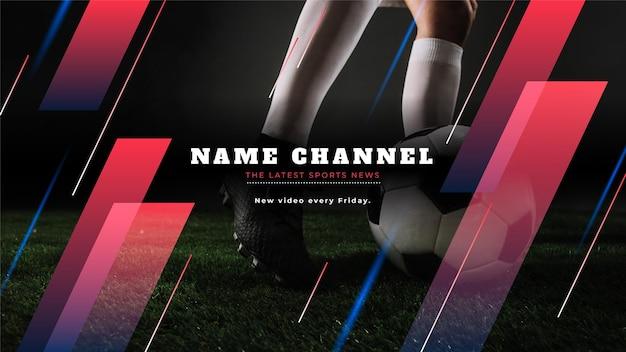 Art de la chaîne youtube sport dégradé