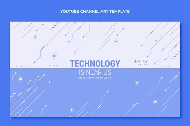 Art de la chaîne youtube à technologie minimale plate