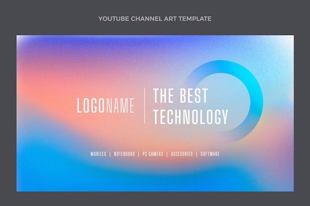 Art de la chaîne youtube de la technologie de la texture dégradée