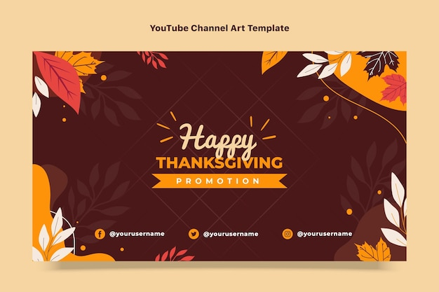 Art de la chaîne youtube de thanksgiving plat