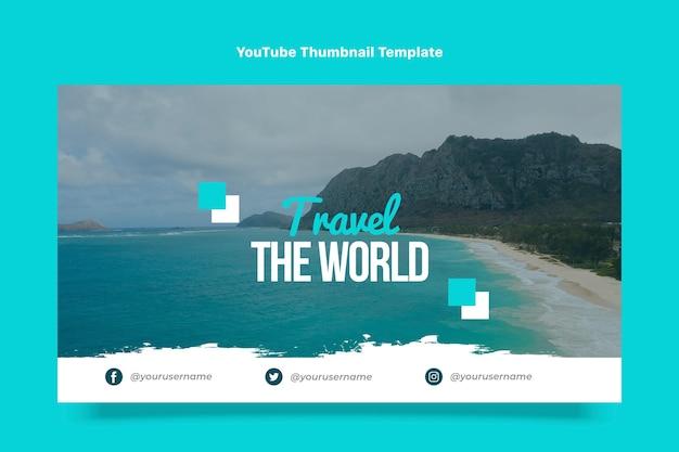 Art de la chaîne youtube de voyage design plat