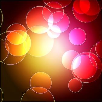 Art coloré multicolore de conception de bokeh