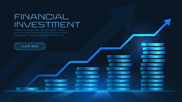 Art conceptuel de la croissance financière