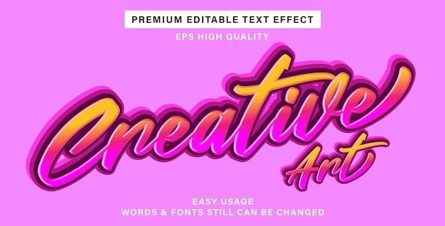Art créatif d'effet de texte modifiable