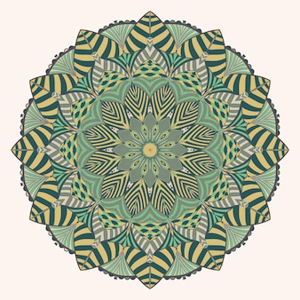 Art de décoration de mandala vintage coloré