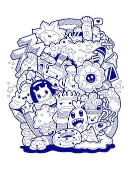 Art de doodle dessiné à la main