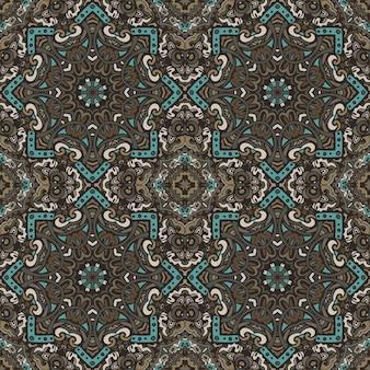 Art du mandala imprimé géométrique ethnique. style de boho ornemental motif abstrait sans couture vintage tribal