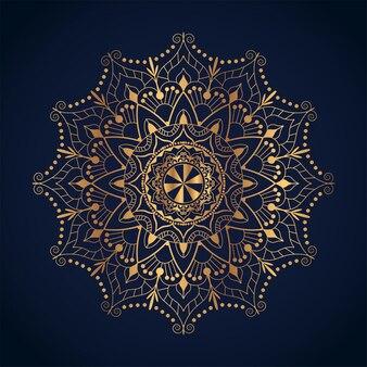 Art du mandala de luxe avec illustration de l'arabesque doré