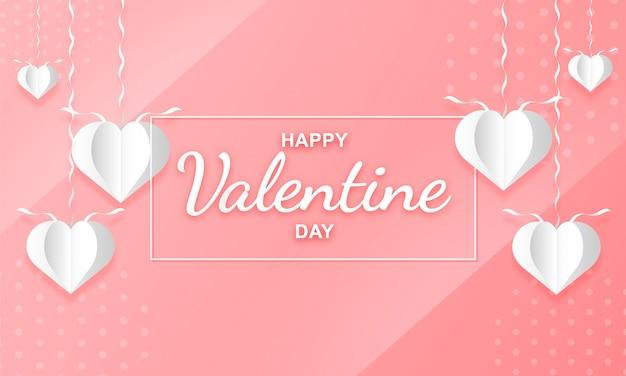 Art du papier de ballons en forme de coeur pour la saint valentin