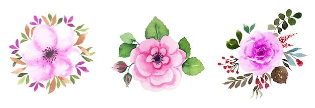 Art floral aquarelle fait à la main
