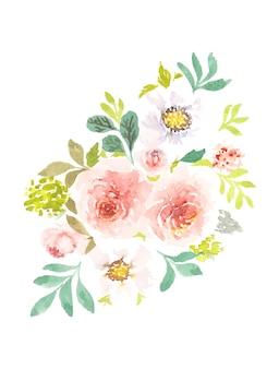 Art floral aquarelle à la main