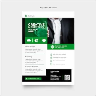 Art de flyer d'entreprise coloré créatif minimal