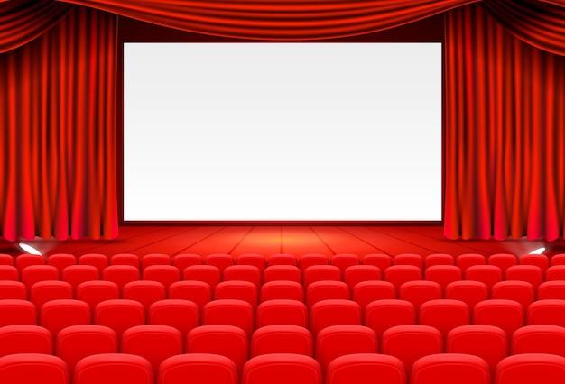 Art de fond de scène de cinéma, performance sur scène. illustration vectorielle