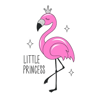 Art glitter flamingo dessin