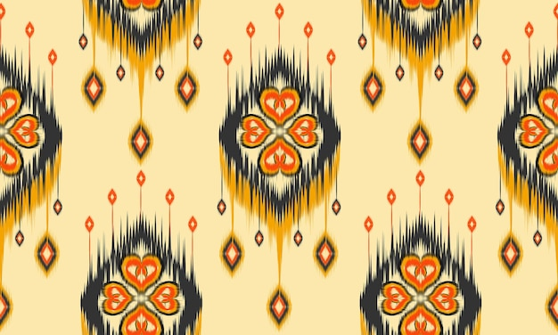 Art ikat abstrait ethnique. modèle sans couture en tribal.