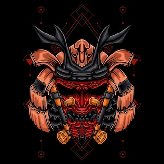 Art d'illustration de robot samouraï