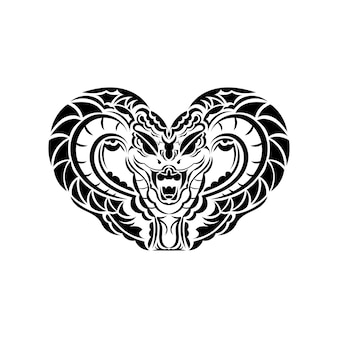 Art d'illustration de serpent anaconda pour tatouage, logo, étiquette, signe, affiche, t-shirt.