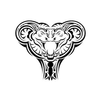 Art d'illustration vectorielle de serpent anaconda pour tatouage, logo, étiquette, signe, affiche, t-shirt. isolé, vecteur.