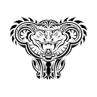 Art d'illustration vectorielle de serpent anaconda pour tatouage, logo, étiquette, signe, affiche, t-shirt.