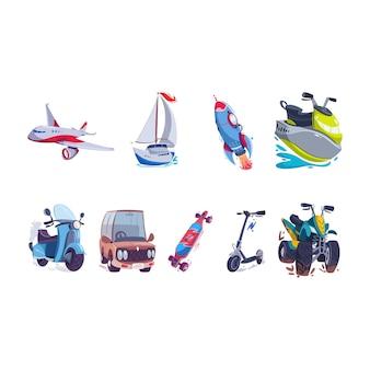 Art d'illustration de véhicule de transport
