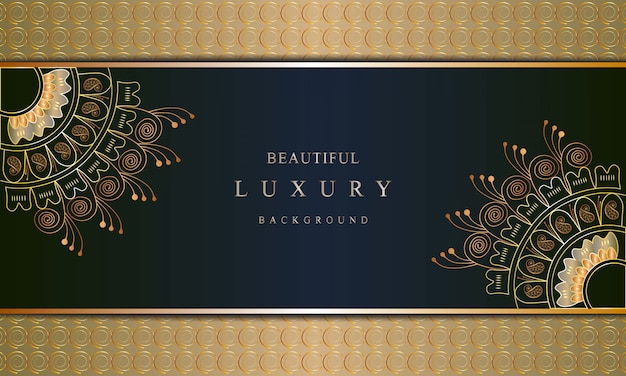 Art de luxe avec style oriental de couleur de fond de couleur d'or de luxe