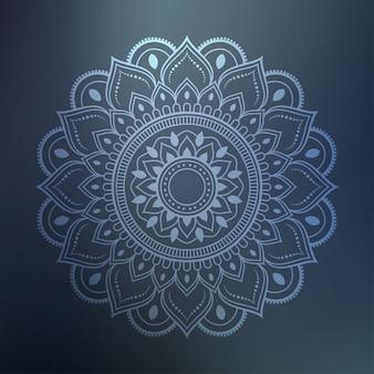 Art de mandala de luxe avec arabesque argenté fond arabe style islamique est