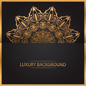 Art de mandala de luxe avec cercle géométrique