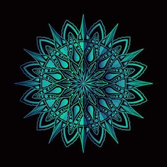 Art de mandala de luxe avec fond arabesque coloré style oriental islamique arabe