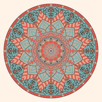 Art de mandala vintage coloré