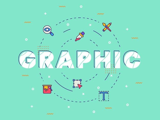 Art de mot calligraphie typographie graphique