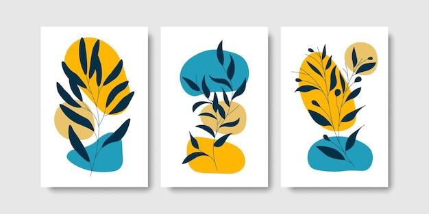 Art mural botanique à la mode