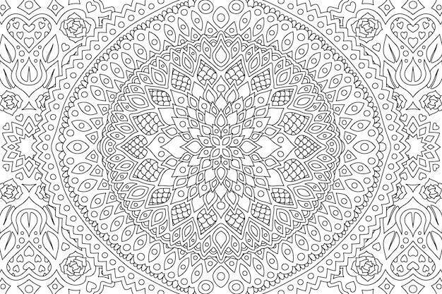 Art en noir et blanc pour colorier page de livre