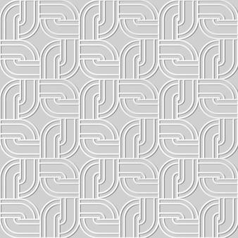 Art de papier 3d modèle sans couture rond cadre de chaîne de géométrie carrée de coin rond