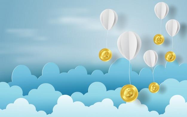 Art papier de ballon avec l'argent de change