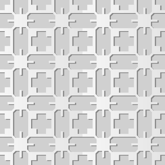 Art de papier blanc géométrie cross polygon frame, fond de décoration élégante pour carte de voeux de bannière web