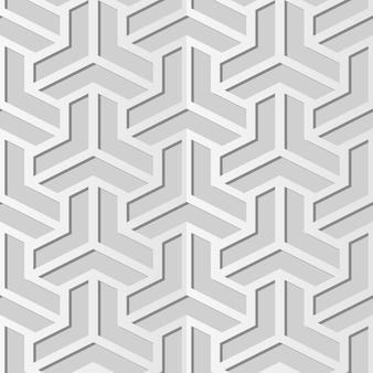 Art de papier blanc polygon triangle cross, fond de décoration élégante pour carte de voeux de bannière web