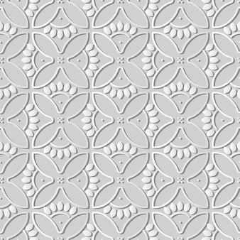 Art de papier blanc rond courbe croix pétales de fleurs cadre, fond de décoration élégante pour carte de voeux de bannière web