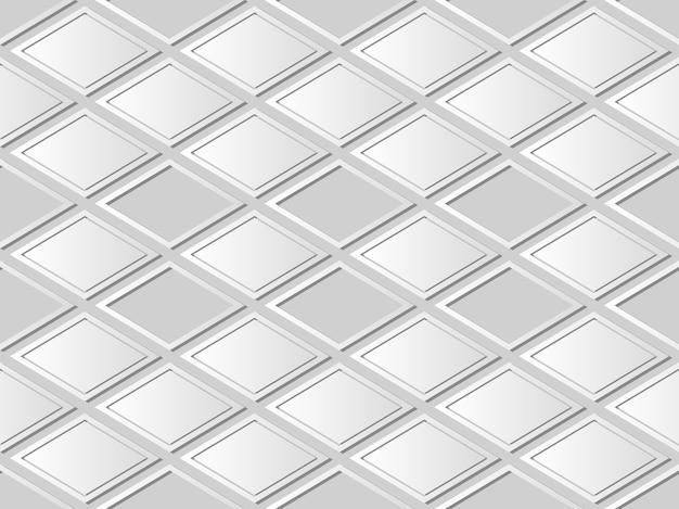 Art de papier blanc vérifier le cadre de géométrie croisée, fond de décoration élégante pour carte de voeux de bannière web