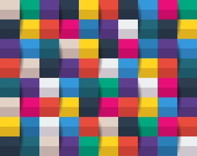 Art papier carré abstrait coloré.