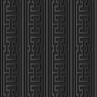 Art de papier sombre ligne de cadre d'entrelacs croisés polygonaux