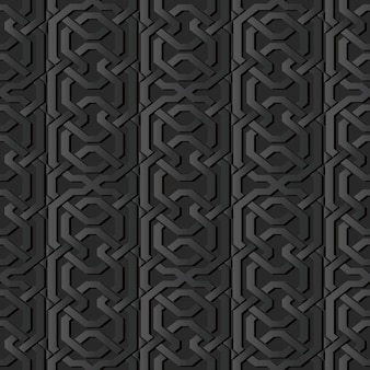 Art de papier sombre polygon geometry cross frame chain line