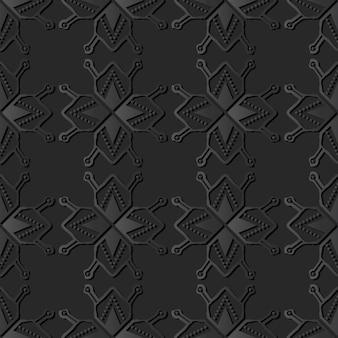 Art de papier sombre polygon star geometry cross dot line, vecteur de fond décoration élégante